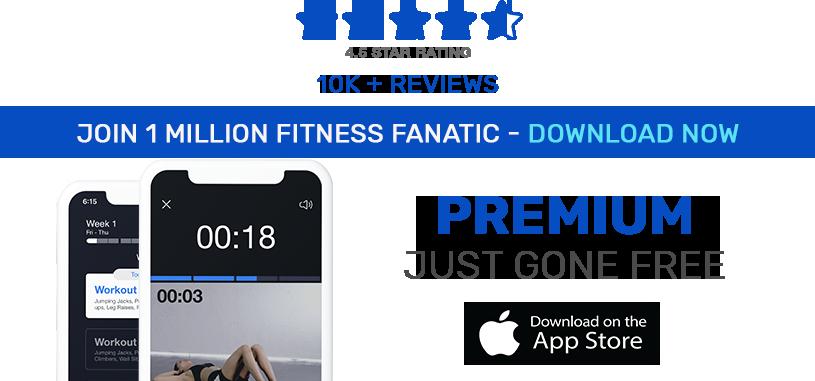 Premium fitness app gone free